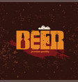 beer text logo or emblem template stylized symbol vector image vector image