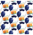 birthday pattern background vector image