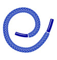 blue shoelace icon simple style vector image