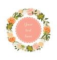 Bright floral card with cute cartoon flowers in vector image vector image