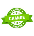 change ribbon change round green sign change vector image vector image