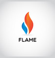 clean red blue fire flame logo sign symbol icon vector image vector image