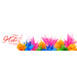 colorful promotional background for festival of vector image vector image