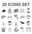 country france monochrome icons in set collection vector image vector image
