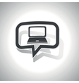 Curved laptop message icon vector image vector image
