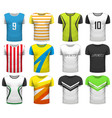 design collection realistic t-shirts mock up vector image