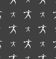 Discus thrower icon sign Seamless pattern on a vector image