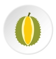 Durian fruit icon flat style vector image vector image