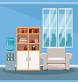 empty office interior vector image vector image