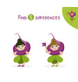 find differences educational game for kids vector image vector image