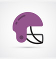 football helmet colored symbol vector image vector image