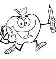 Fun apple activity drawings vector image vector image