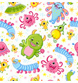 funny pattern with aliens seamless vector image