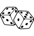 game dice in flight casino dice vector image