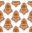 Gingerbread seamless pattern with christmas bell vector image vector image