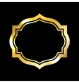 Gold frame Beautiful simple golden black design vector image vector image