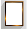 golden vintage frame on a white background vector image