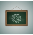 Green Chalkboard Mockup Template with Lettering vector image vector image