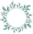 green leaves frame design vector image vector image