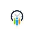 group time logo icon design vector image