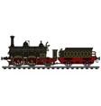 historical black steam locomotive vector image vector image