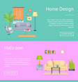 home design and hallroom on vector image vector image
