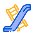 interactive kids playground slide icon vector image vector image