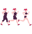 jogging weight loss woman overweight fat lady and vector image vector image