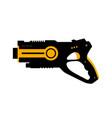 laser tag gun game icon tag vector image