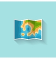 map in a flat style navigation travelhiking vector image