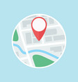 map with gps label flat icon vector image vector image