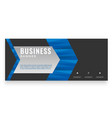 modern blue arrow design business banner im vector image vector image