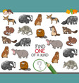 one of a kind activity worksheet vector image vector image