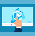 online teacher streaming tutorial education vector image