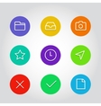 Outline icon set with clock arrow and navigation vector image