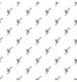 Paintball gun pattern cartoon style vector image vector image