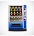 Realistic Snacks Vending Machine vector image