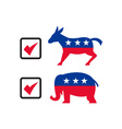Republican Elephant Democrat Donkey Election