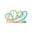 roller coaster amusement park element vector image