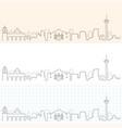 san antonio hand drawn skyline vector image vector image