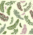 seamless pattern with leaves and branches floral vector image vector image