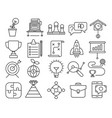 strategy outline icons vector image