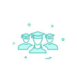 student group icon design vector image