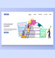 student loan website landing page design vector image vector image