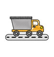tipper truck construction street transport vector image vector image