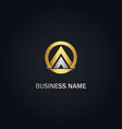 triangle pyramid round business gold logo vector image vector image