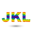 triangular letters jkl vector image