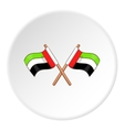 UAE flag icon cartoon style vector image vector image