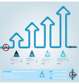 Water Pipeline Business Infographic vector image vector image