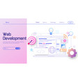 web development modern flat design concept mobile vector image vector image